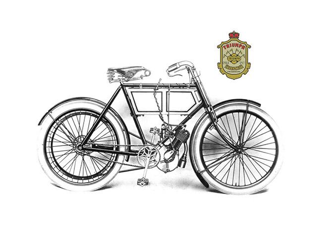 1902: 第一辆 TRIUMPH 摩托车