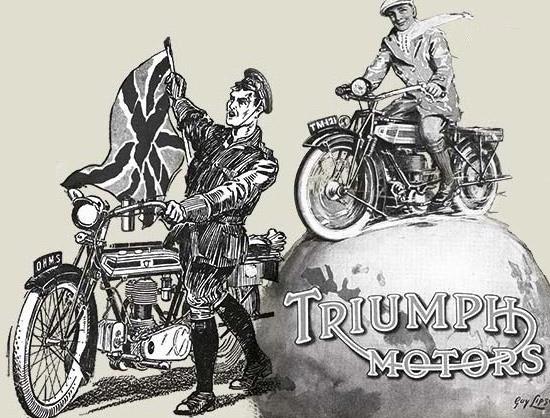 1915: 首款 TRIUMPH H 型 'TRUSTY' 摩托车